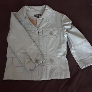 Bebe leather jacket size XS in baby blue color